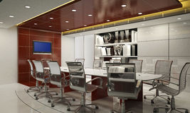 Sala de conferências 3d Fotografia de Stock Royalty Free