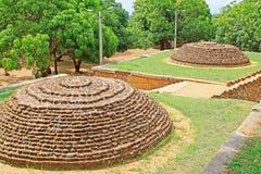 Sala de conferências de Anuradhapura Mihintale, patrimônio mundial do UNESCO de Sri Lanka Foto de Stock Royalty Free