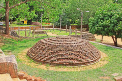 Sala de conferências de Anuradhapura Mihintale, patrimônio mundial do UNESCO de Sri Lanka Imagem de Stock