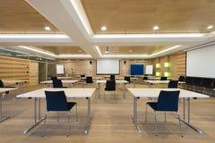 Sala de conferências de madeira Imagens de Stock