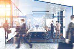 Sala de conferências, pessoa, dobro Imagem de Stock