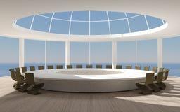 Sala de conferências redonda para reuniões ilustração do vetor