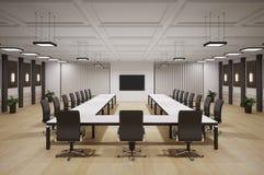Sala de conferencias 3d interior Imágenes de archivo libres de regalías