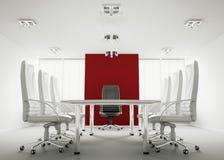 Sala de conferencias blanca 3d Fotos de archivo
