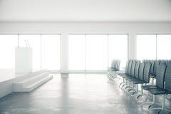 Sala de conferencias concreta Fotografía de archivo libre de regalías