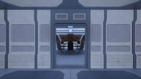 Sala de conferencias de la estación espacial Fotografía de archivo libre de regalías
