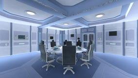 Sala de conferencias de la estación espacial Fotografía de archivo