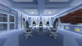 Sala de conferencias de la estación espacial Imagenes de archivo