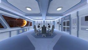 Sala de conferencias de la estación espacial Foto de archivo libre de regalías