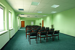 Sala de conferencias vacía. foto de archivo
