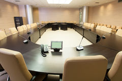 Sala de conferencias vacía Fotos de archivo