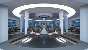 Sala de control stock de ilustración
