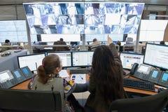Sala de control Fotos de archivo libres de regalías