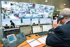 Sala de control Imagen de archivo libre de regalías