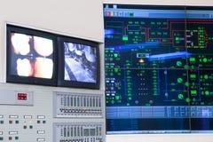 Sala de control - central eléctrica Imagen de archivo libre de regalías