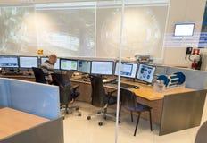 Sala de control del atlas Foto de archivo libre de regalías