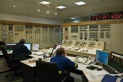 Sala de control en central electrica Foto de archivo libre de regalías