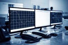 Sala de control moderna de la planta Foto de archivo