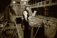 Sala de correios no trem Fotografia de Stock Royalty Free