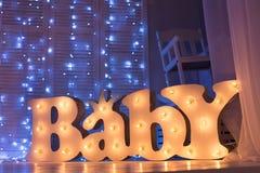 A sala de crianças com luzes Foto de Stock