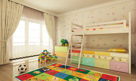 Sala de criança Foto de Stock Royalty Free