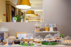 Sala de desayuno del hotel de Ares Imágenes de archivo libres de regalías