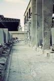Sala de despiece de piedra dentro de la visión fotografía de archivo