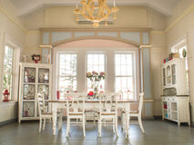 Sala de Dinning imagens de stock
