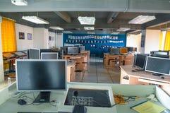 Sala de ensino do treinamento da prática da edição audio e video Fotos de Stock Royalty Free