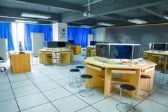 Sala de ensino do treinamento da prática da edição audio e video Fotografia de Stock Royalty Free