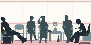 Sala de espera ilustração stock