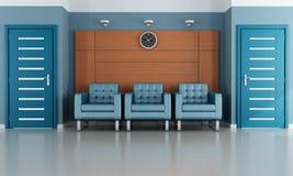 Sala de espera azul Imagen de archivo