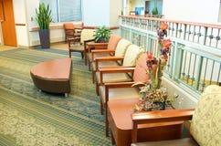 Sala de espera do hospital fotografia de stock