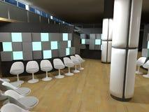 Sala de espera do hospital, cubos da luz verde Imagens de Stock Royalty Free