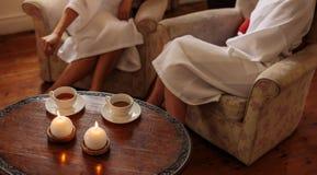 Sala de espera do salão de beleza dos termas Fotos de Stock Royalty Free