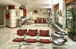 Sala de espera na estação de comboio Fotos de Stock Royalty Free