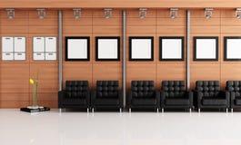 Sala de espera elegante stock de ilustración