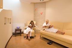 Sala de espera en el balneario Imágenes de archivo libres de regalías