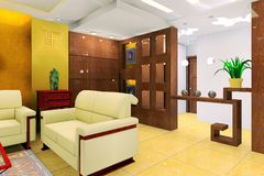 Sala de estar stock de ilustración