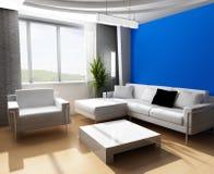 Sala de estar 3d foto de stock royalty free