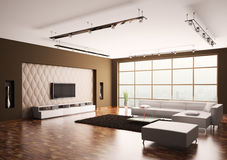 Sala de estar 3d interior Imagen de archivo