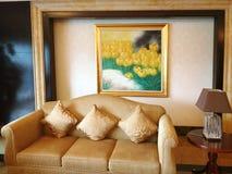Sala de estar imagem de stock
