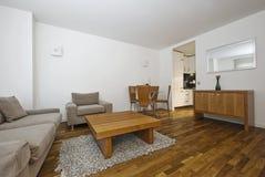Sala de estar aberta moderna da planta Fotografia de Stock