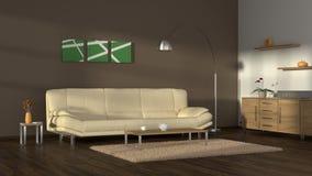 Sala de estar acogedora moderna Foto de archivo libre de regalías