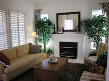 Sala de estar agradable Fotografía de archivo libre de regalías