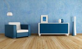 Sala de estar azul Foto de archivo