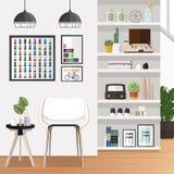 Sala de estar blanca Imagen de archivo