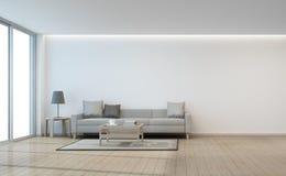 Sala de estar blanca de la pared Fotos de archivo libres de regalías