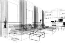 Sala de estar branca Fotografia de Stock