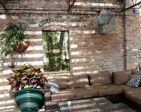 Sala de estar brilhante exterior foto de stock royalty free
